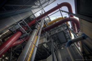 Urbex Urban Exploration Powerplant Gigawatt XL Cloud Factory external exterior pipes