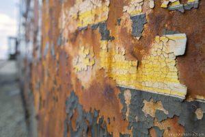 Adam X Urbex Urban Exploration Orient Express external rust paint detail