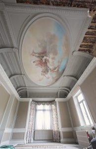 Adam X Alla Italia Belgium Urbex Urban Exploration ceiling painting