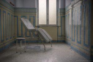 Adam X Alla Italia Belgium Urbex Urban Exploration treatment chair room