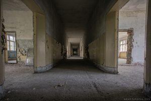 Adam X Urbex Urban Exploration Abandoned Germany Wunsdorf barracks soviet corridor decay rooms