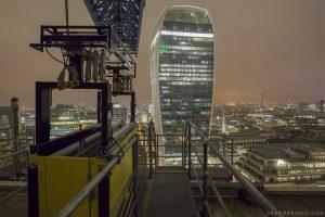 Rooftop L New year's years eve 2014 2015 Adam X Urbex UE Urban Exploration London Rooftops High Night Photo Photography Skyline Walkie Talkie building