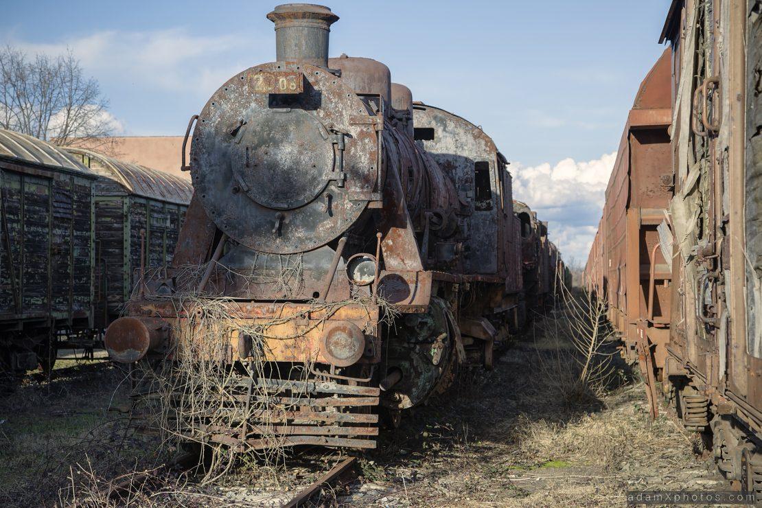Train locomotive graveyard kaloyanovets bulgaria urbex urban exploration Adam X photo photos photography photographs report abandoned lost derelict decay decayed forgotten haunting