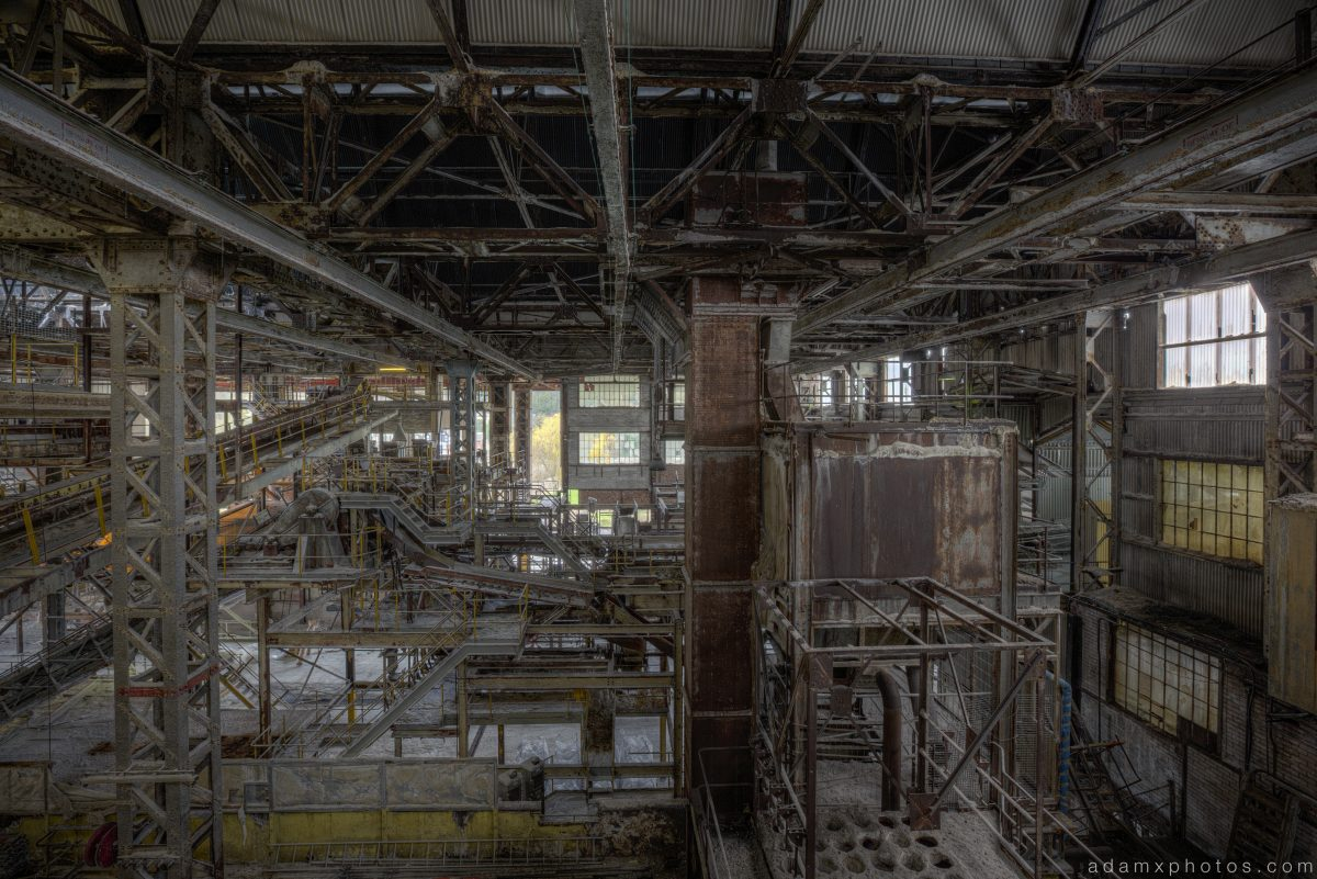 Gantries inside interior The Snow Factory Soda Ash Works Wallerscote Island Northwich Urbex Urban exploration Adam X Urban Exploration Photo photos photographs UK March 2015 report abandoned disused derelict decay decayed