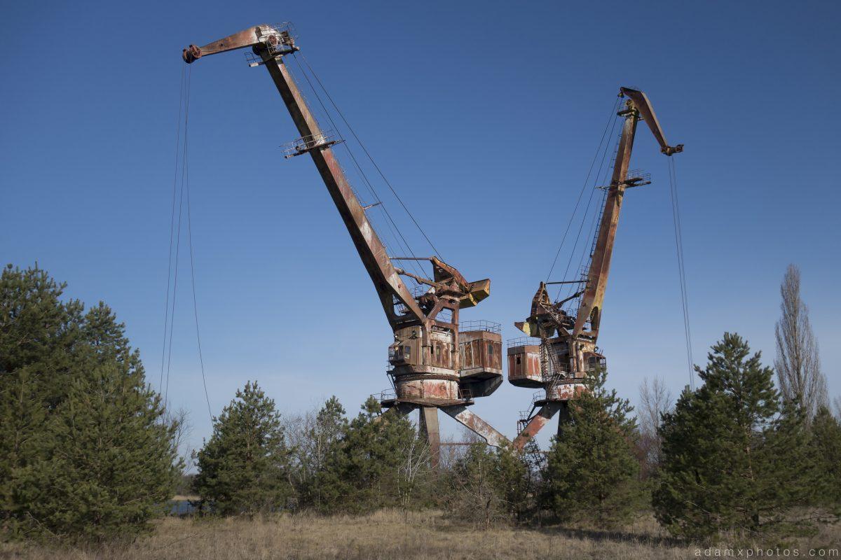 Cranes Chernobyl Pripyat Urbex Adam X Urban Exploration 2015 Abandoned decay lost forgotten derelict