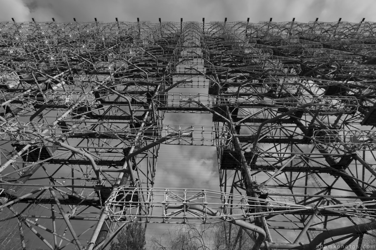 radar array huge height duga 3 Radar russian woodpecker Chernobyl Pripyat Urbex Adam X Urban Exploration 2015 Abandoned decay lost forgotten derelict