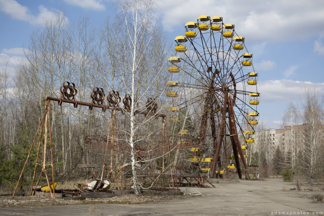 ferris wheel fairground ride radioactive radiation safe dangerous Chernobyl Pripyat Urbex Adam X Urban Exploration 2015 Abandoned decay lost forgotten derelict