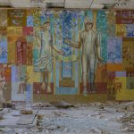 post office mural famous spaceman inside Chernobyl Pripyat Urbex Adam X Urban Exploration 2015 Abandoned decay lost forgotten derelict
