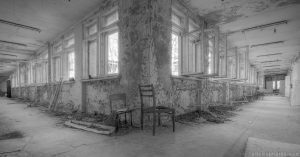 corridors black and white b&w elementary school 3 Chernobyl Pripyat Urbex Adam X Urban Exploration 2015 Abandoned decay lost forgotten derelict