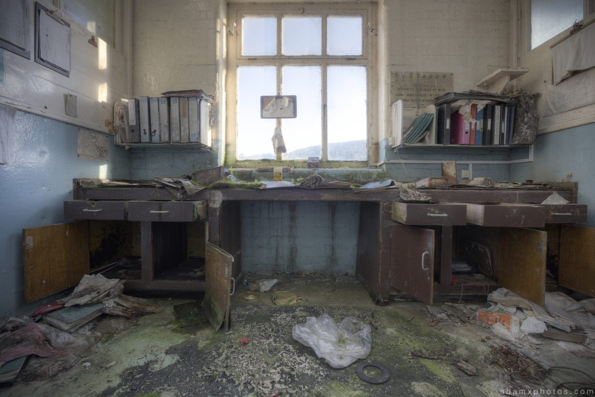 Office Robert Fletcher and Son paper mill Greenfield Oldham Urbex Adam X Urban Exploration 2015 Abandoned decay lost forgotten derelict