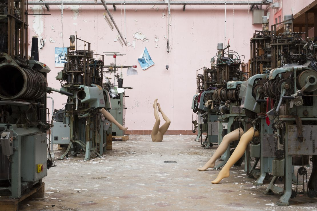 Foot Factory Textile Stockings France Urbex Adam X Urban Exploration 2015 Abandoned decay lost forgotten derelict