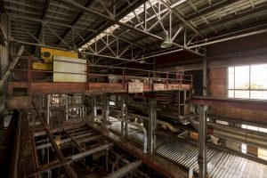 Gantry above the turbine hall Lostock Power Station Plant Northwich Industrial Industry infiltration Urbex Adam X Urban Exploration 2015 Abandoned decay lost forgotten derelict