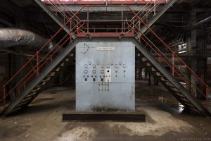 Basement boiler feedwater panel Lostock Power Station Plant Northwich Industrial Industry infiltration Urbex Adam X Urban Exploration 2015 Abandoned decay lost forgotten derelict