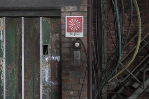 Fire Alarm vintage retro sign Lostock Power Station Plant Northwich Industrial Industry infiltration Urbex Adam X Urban Exploration 2015 Abandoned decay lost forgotten derelict