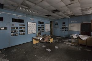 Blue Main Control Room Lostock Power Station Plant Northwich Industrial Industry infiltration Urbex Adam X Urban Exploration 2015 Abandoned decay lost forgotten derelict