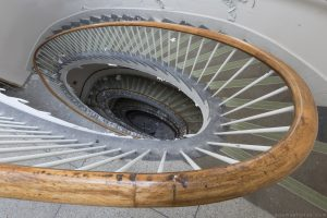 Spiral Stairs Staircase Looking down from the top Royal Hospital Haslar Gosport History Naval Navy Military Hospital Urbex Adam X Urban Exploration Infiltration Access 2015 Abandoned decay lost forgotten derelict