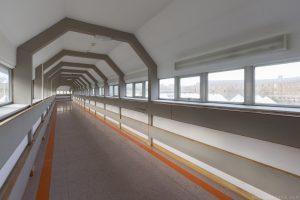 Futuristic tunnel corridor connecting Royal Hospital Haslar Gosport History Naval Navy Military Hospital Urbex Adam X Urban Exploration Infiltration Access 2015 Abandoned decay lost forgotten derelict