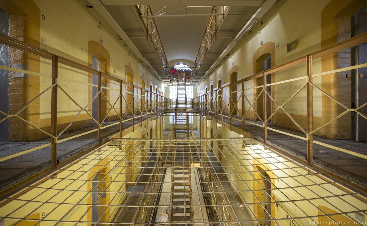 Safety netting Yellow Prison H19 Germany Deutschland Urbex Adam X Urban Exploration Access 2016 Abandoned decay lost forgotten derelict