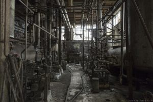 dark basement grimy industrial Usine S Belgium Textile Wool Factory Urbex Adam X Urban Exploration Access 2016 Abandoned decay lost forgotten derelict