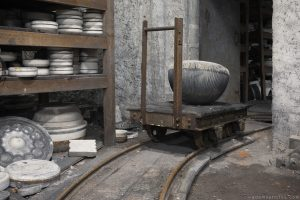 Faiencerie S Poterie S trolley cart bowls Poterie DGM Urbex Pottery ceramics ceramic factory France Adam X Urban Exploration Access 2016 Abandoned decay lost forgotten derelict location