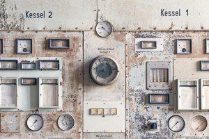 Kessel Boiler controls detail Kraftwerk Plessa Urbex Powerplant Germany Adam X Urban Exploration Access 2016 Abandoned decay lost forgotten derelict location