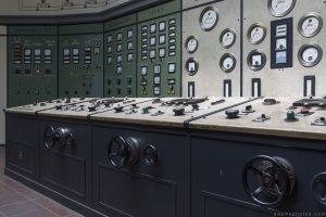 Controls Retro Vintage Green Control Room Art Deco Kraftwerk Plessa Urbex Powerplant Germany Adam X Urban Exploration Access 2016 Abandoned decay lost forgotten derelict location