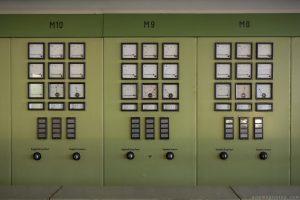 Panels Green control room Kraftwerk V Urbex Powerplant Germany Adam X Urban Exploration Access 2016 Abandoned decay lost forgotten derelict location Deutschland