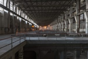 Turbine Hall stripped bare empty sunset Kraftwerk V Urbex Powerplant Germany Adam X Urban Exploration Access 2016 Abandoned decay lost forgotten derelict location Deutschland