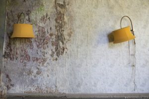 Lights lampshades still life mould mouldy wallpaper Grand Hotel Atlantis Urbex Germany Adam X Urban Exploration Access 2016 Abandoned decay lost forgotten derelict location Deutschland