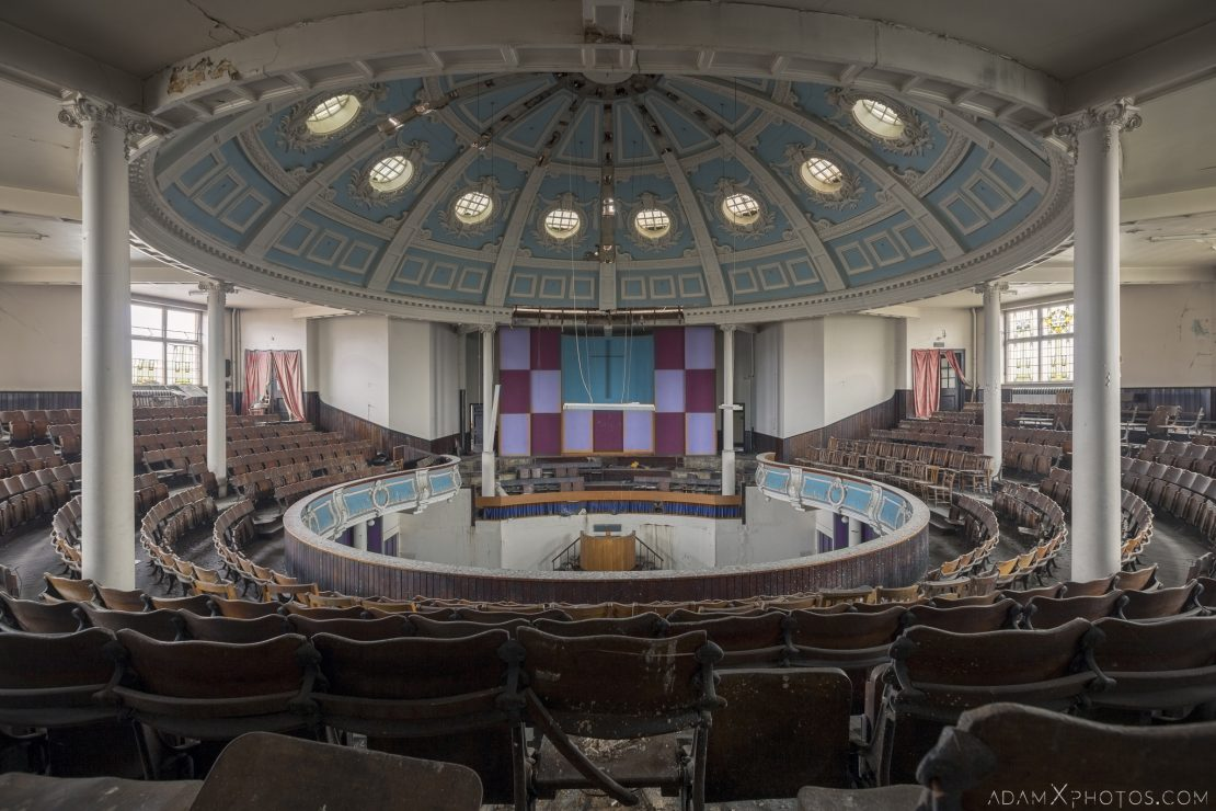 King's Hall Methodist Church Cinema Southall London Ornate rotunda chairs Urbex Adam X Urban Exploration Access 2016 Abandoned decay lost forgotten derelict location haunting eerie