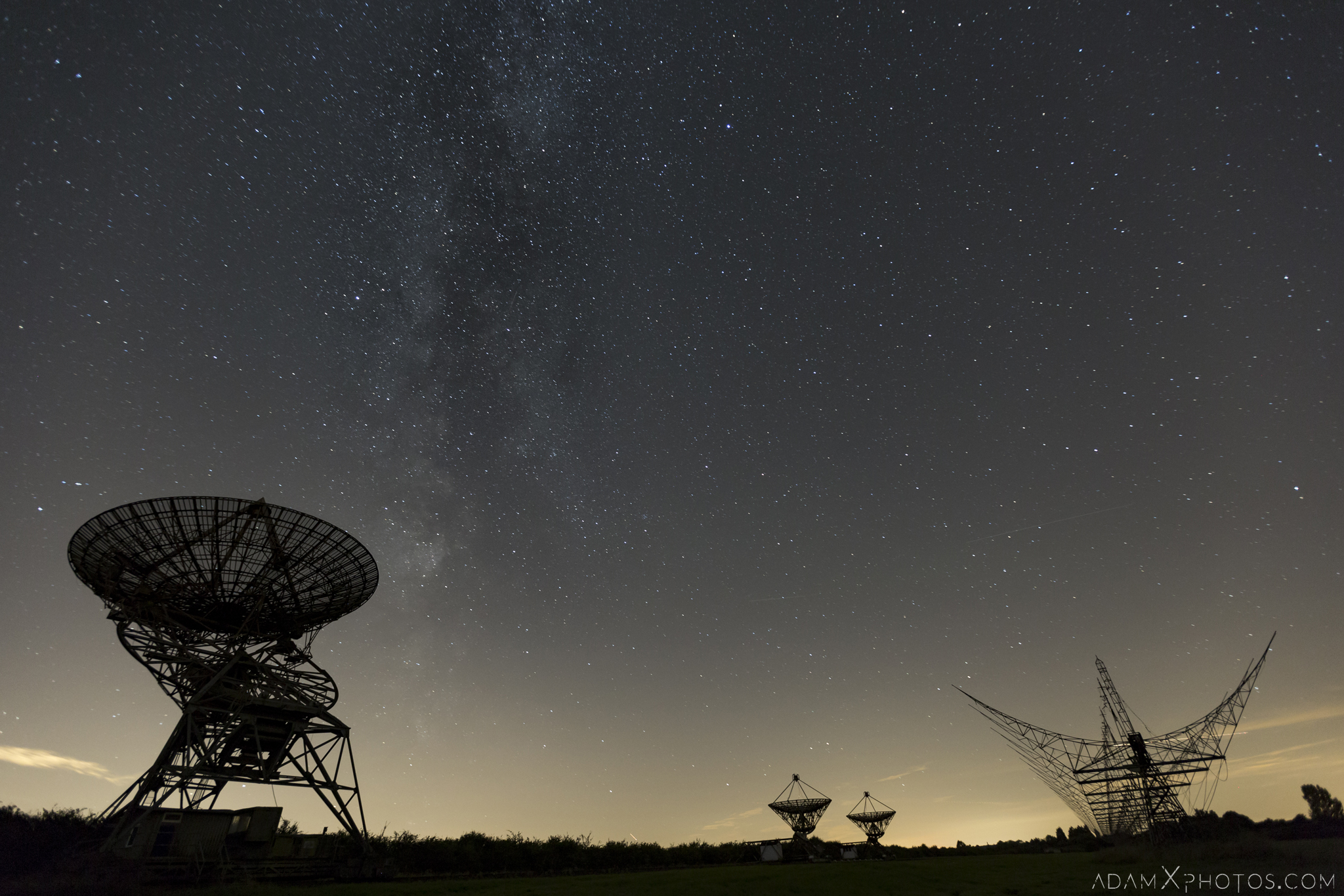 Satellite Antenna Antennae night photography night time milky way stars astrophotgraphy Mullard Radio Astronomy Observatory Cambridge UK Urbex Adam X Urban Exploration Access 2016 Abandoned decay lost forgotten derelict location haunting eerie