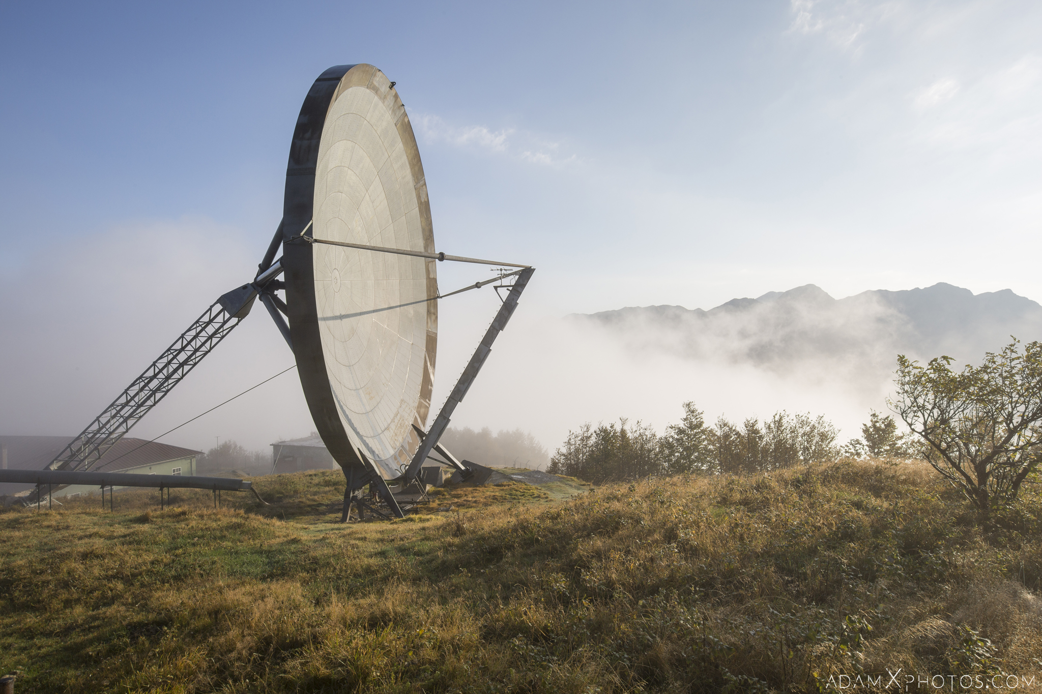 Parabola dish radar radio communications Ice Station Zebra NATO Livorno Monte del Giogo Italy Italia Urbex Adam X Urban Exploration Access 2016 Abandoned decay lost forgotten derelict location haunting eerie