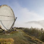 Parabola dish radar radio communications morning dawn mist clouds Ice Station Zebra NATO Livorno Monte del Giogo Italy Italia Urbex Adam X Urban Exploration Access 2016 Abandoned decay lost forgotten derelict location haunting eerie