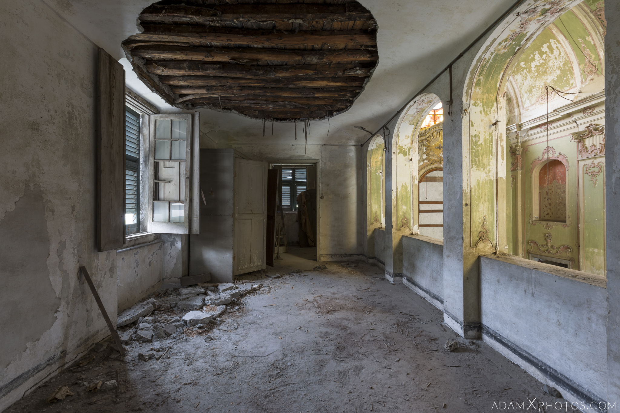 Green Church Chiesa D.C. Chiesa di Verde Chiesa Barocca Urbex Adam X Urban Exploration Italy Italia Access 2016 Abandoned decay lost forgotten infiltration derelict location creepy haunting eerie