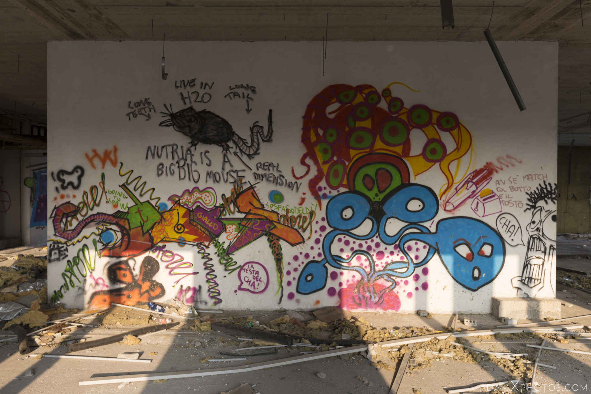 Colourful graffiti La fabbrica dei colori factory Adam X Urban Exploration Italy Italia Access 2016 Abandoned decay lost forgotten derelict location creepy haunting eerie