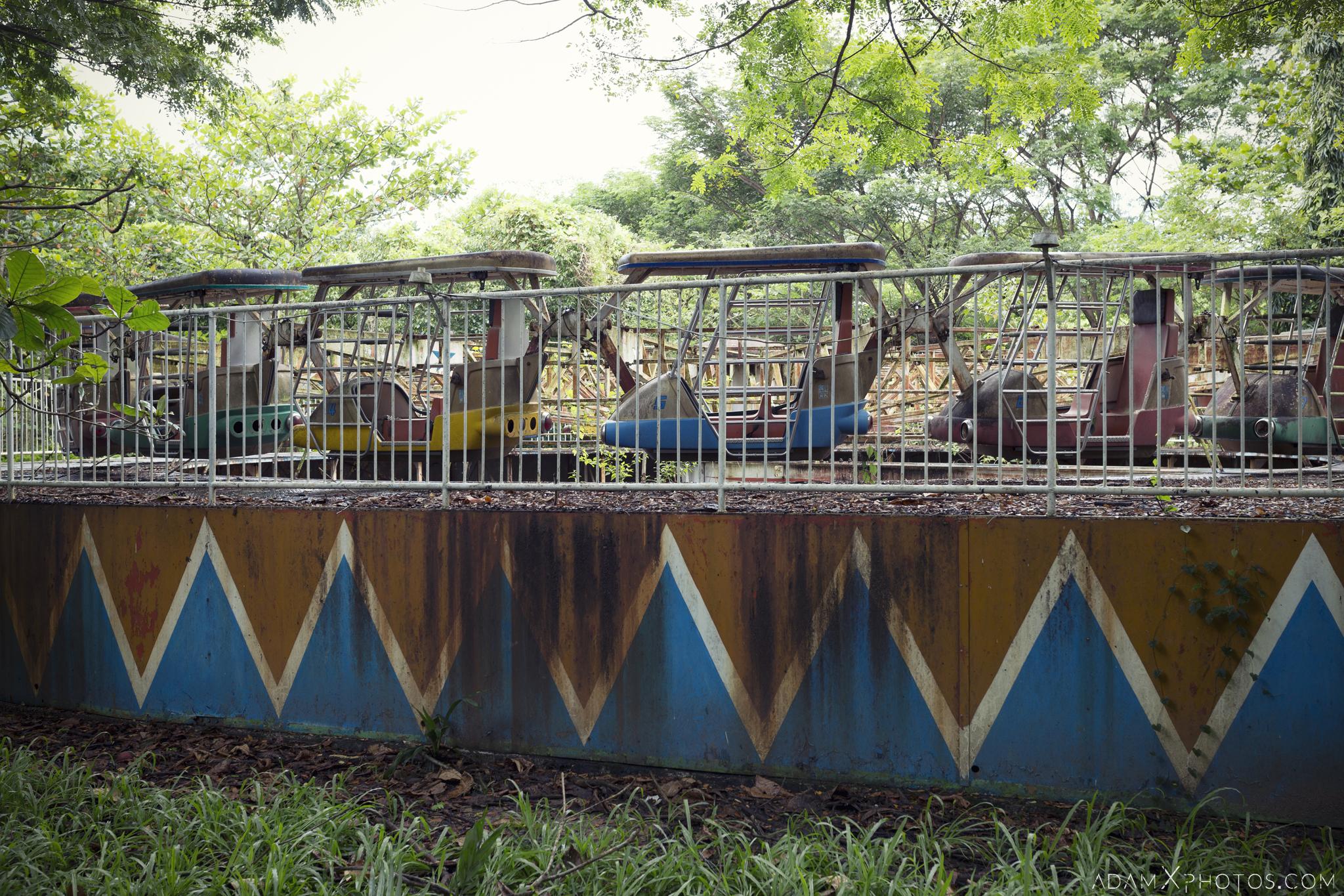 Carousel ride Happy World Theme Park Amusement Park Fairground Myanmar Burma Yangon Rangoon Urbex Adam X Urban Exploration Access 2016 Abandoned decay lost forgotten derelict location creepy haunting eerie