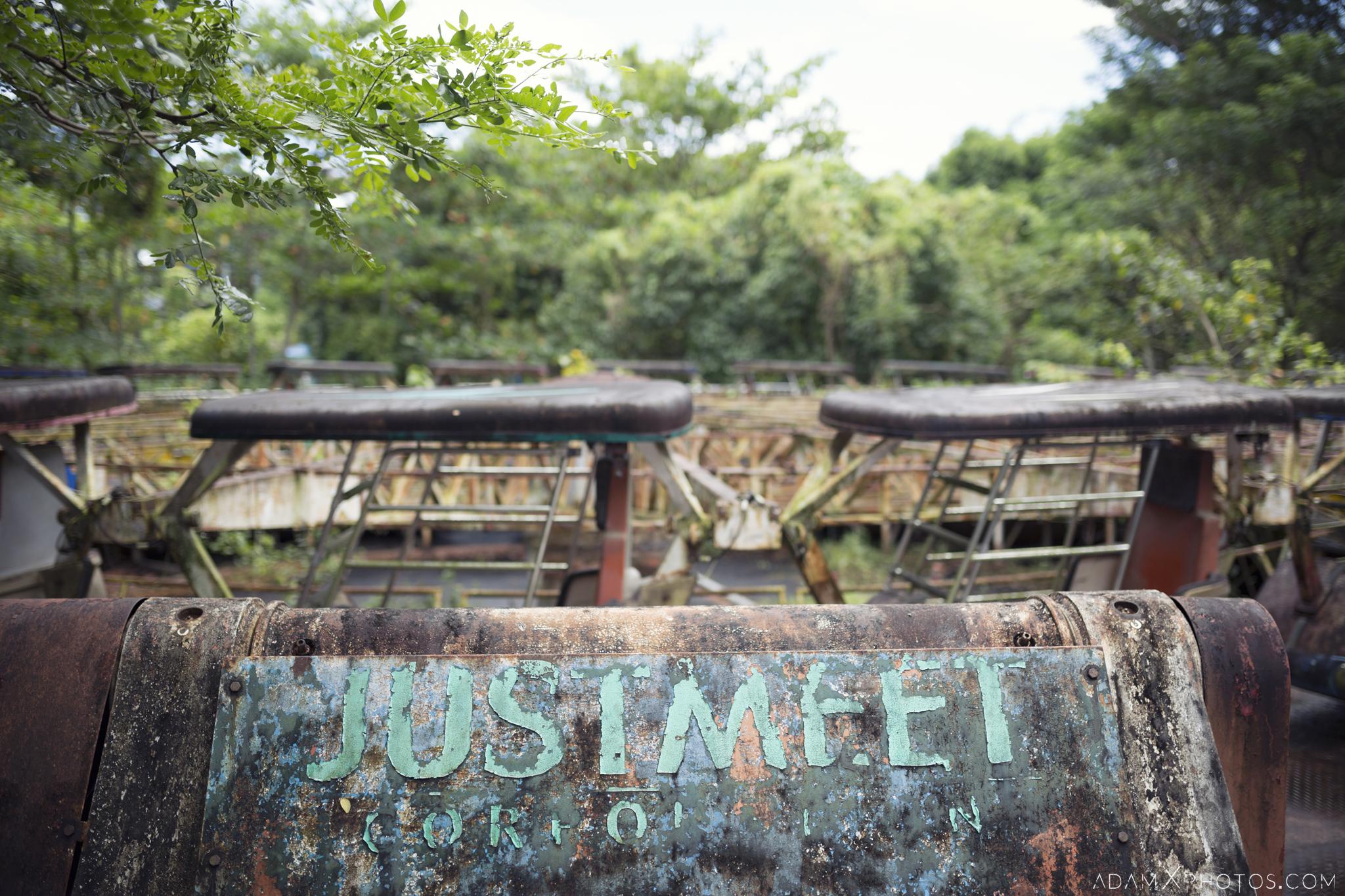 Justmeet Corporation Happy World Theme Park Amusement Park Fairground Myanmar Burma Yangon Rangoon Urbex Adam X Urban Exploration Access 2016 Abandoned decay lost forgotten derelict location creepy haunting eerie
