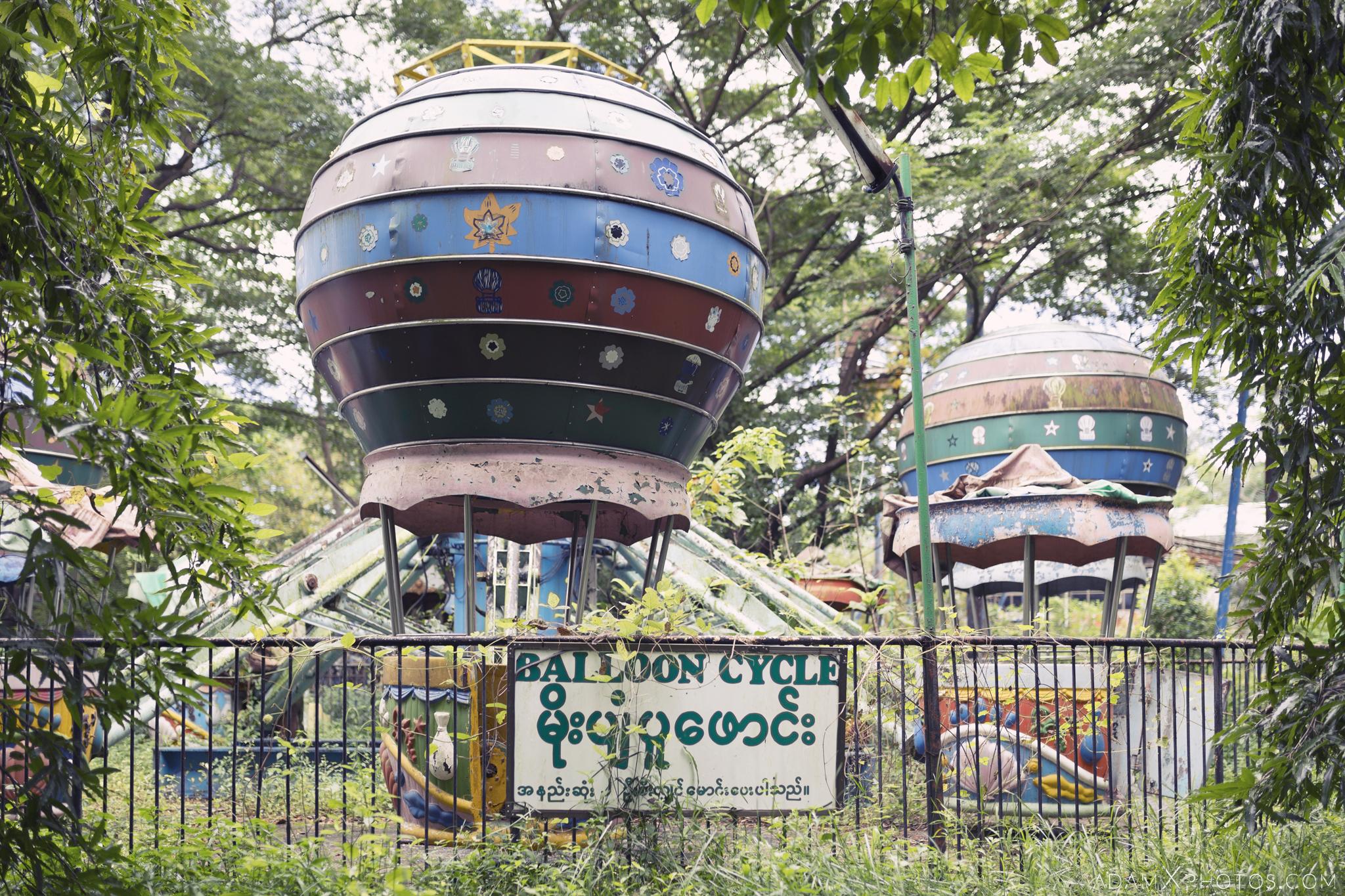 Balloon Cycle ride Happy World Theme Park Amusement Park Fairground Myanmar Burma Yangon Rangoon Urbex Adam X Urban Exploration Access 2016 Abandoned decay lost forgotten derelict location creepy haunting eerie
