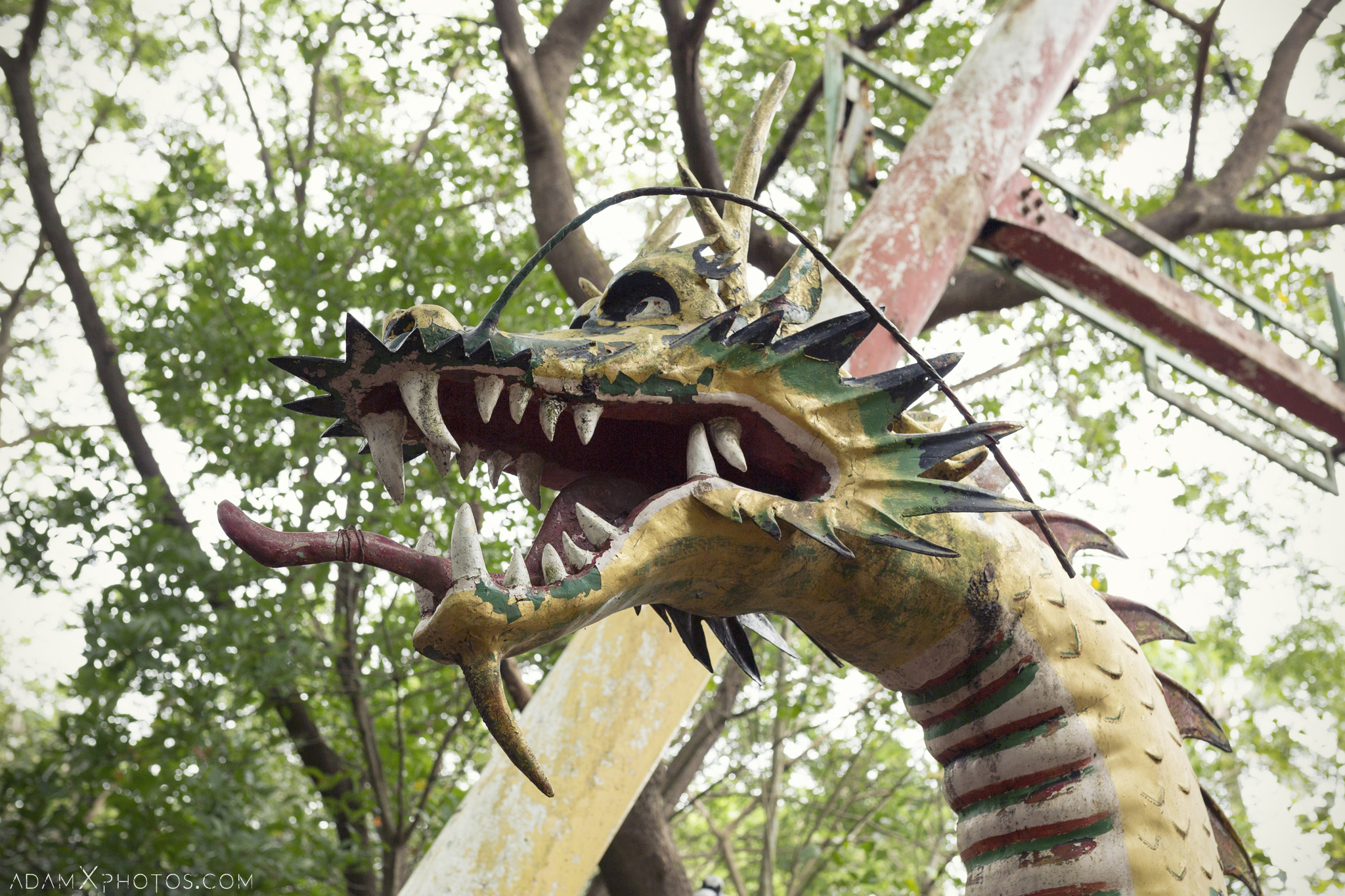 Dragon Happy World Theme Park Amusement Park Fairground Myanmar Burma Yangon Rangoon Urbex Adam X Urban Exploration Access 2016 Abandoned decay lost forgotten derelict location creepy haunting eerie