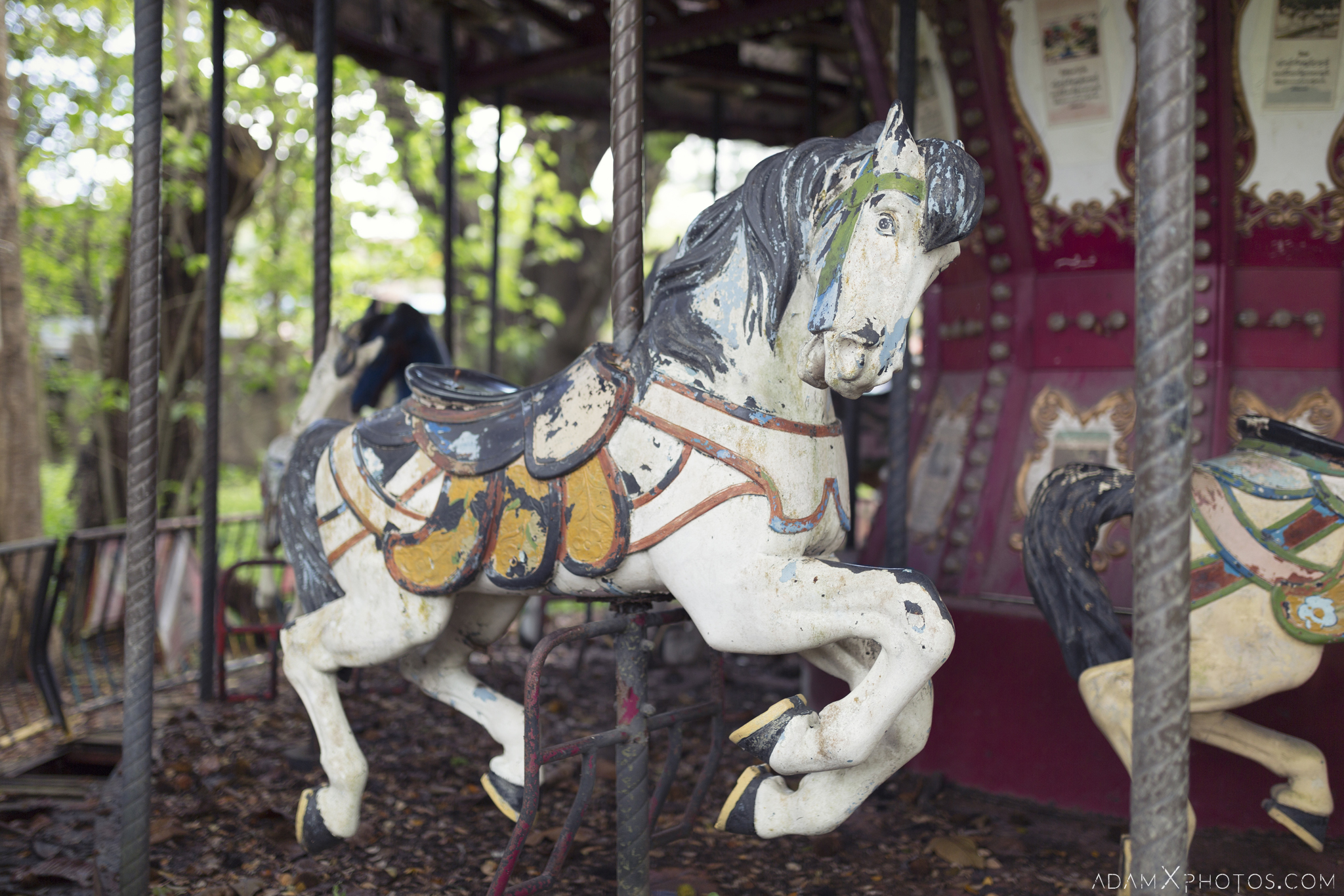 Horse Happy World Theme Park Amusement Park Fairground Myanmar Burma Yangon Rangoon Urbex Adam X Urban Exploration Access 2016 Abandoned decay lost forgotten derelict location creepy haunting eerie