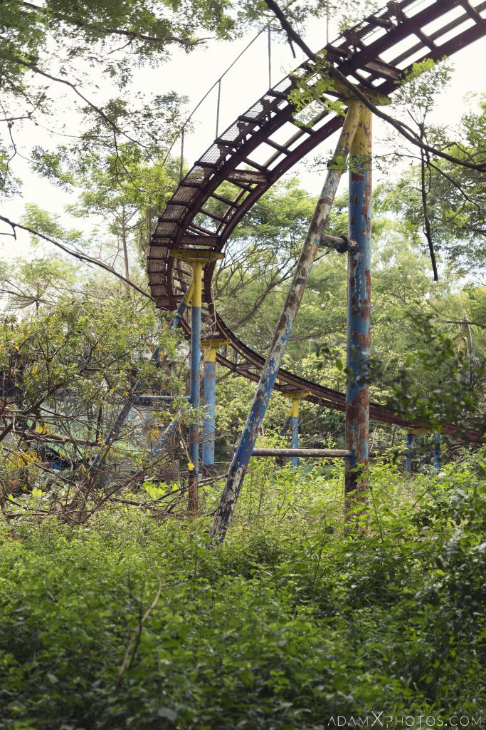 rollercoaster Happy World Theme Park Amusement Park Fairground Myanmar Burma Yangon Rangoon Urbex Adam X Urban Exploration Access 2016 Abandoned decay lost forgotten derelict location creepy haunting eerie