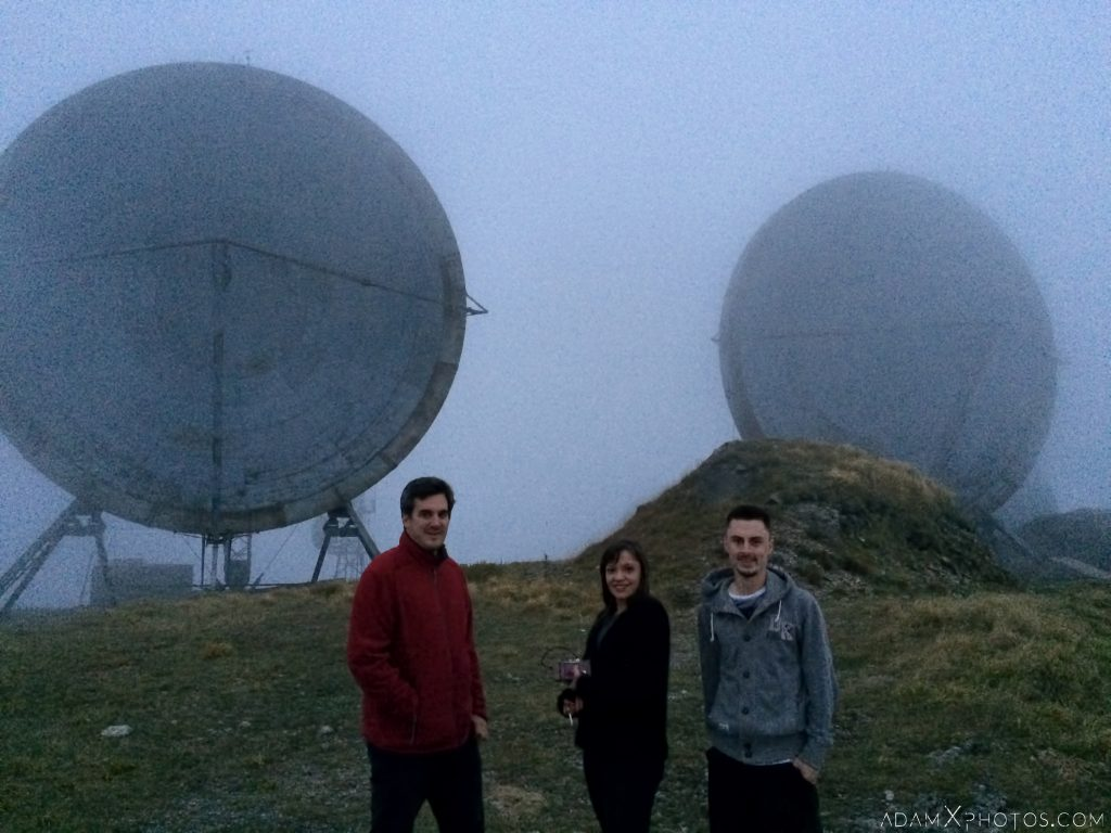 Summit peak Parabola dish radar radio communications clouds Ice Station Zebra NATO Livorno Monte del Giogo Italy Italia Urbex Adam X Urban Exploration Access 2016 Abandoned decay lost forgotten derelict location haunting eerie