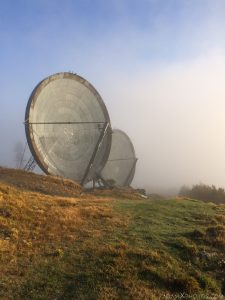 Summit peak Parabola dishes radar radio communications clouds Ice Station Zebra NATO Livorno Monte del Giogo Italy Italia Urbex Adam X Urban Exploration Access 2016 Abandoned decay lost forgotten derelict location haunting eerie