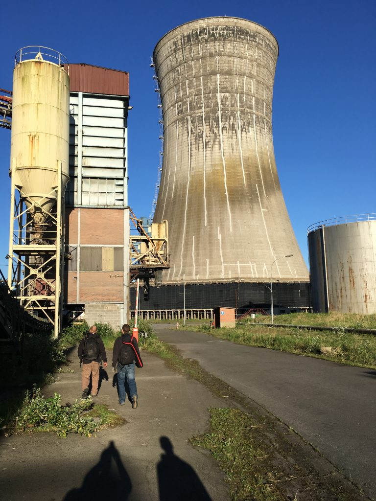 exterior cooling tower gantries Centrale de schneider powerplant power plant industrial industy Adam X Urban Exploration France Access 2017 Abandoned decay lost forgotten derelict location creepy haunting eerie