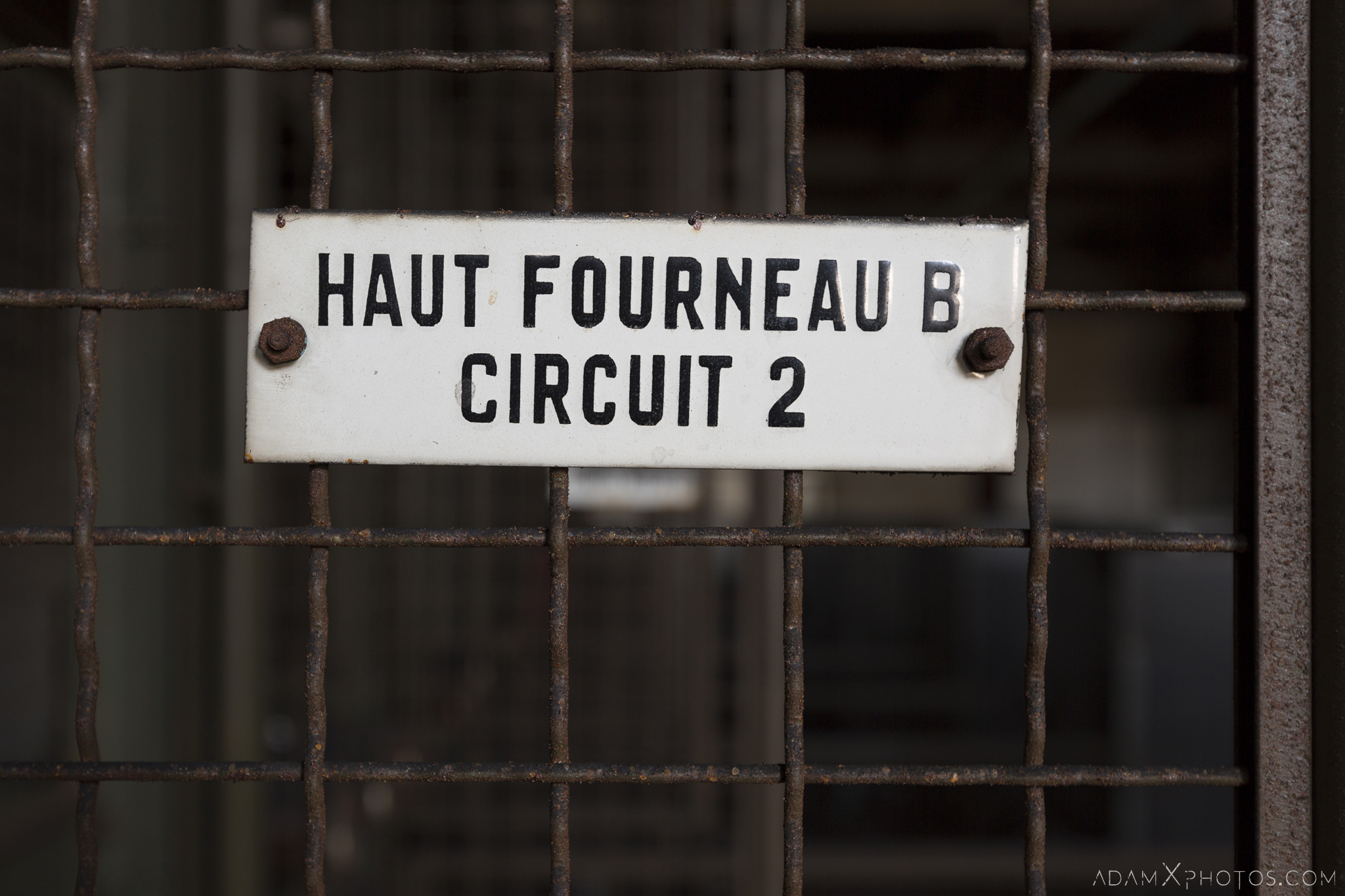 HFB sign Haut Fourneau B HFB Blast Furnace Steelworks Adam X Urban Exploration Belgium Access 2017 Abandoned decay lost forgotten derelict location creepy haunting eerie