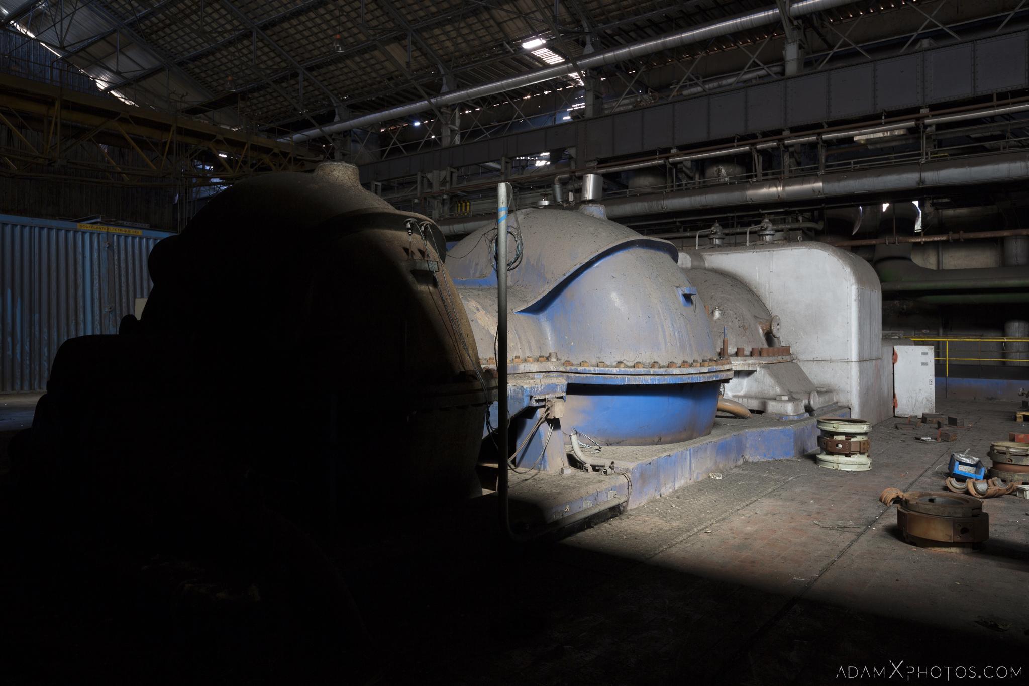 Blue turbine Haut Fourneau B HFB Blast Furnace Steelworks Adam X Urban Exploration Belgium Access 2017 Abandoned decay lost forgotten derelict location creepy haunting eerie