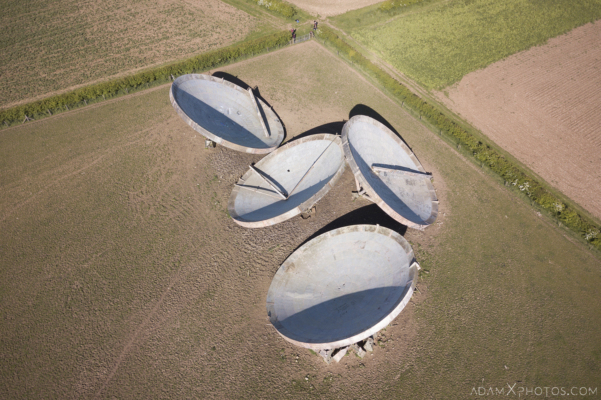 Drone Aerial from above mavic DJI RAF Stenigot Lincolnshire Tropospheric scatter radar dishes Adam X Urbex Urban Exploration Access 2018 Abandoned decay lost forgotten derelict location creepy haunting eerie