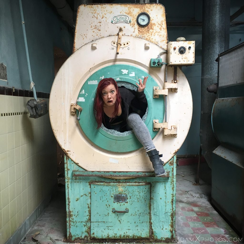 Jade Brimfield washing machine Connacht District Lunatic Asylum St Brigid's Hospital Adam X Urbex Urban Exploration Ireland Ballinasloe Access 2017 Abandoned decay lost forgotten derelict location creepy haunting eerie