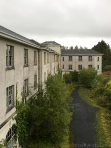 Exterior outside view from window De Salle College School Colaiste Iosagain Ballyvourney County Cork Adam X Urbex Urban Exploration Ireland Access 2017 Abandoned decay lost forgotten derelict location creepy haunting eerie