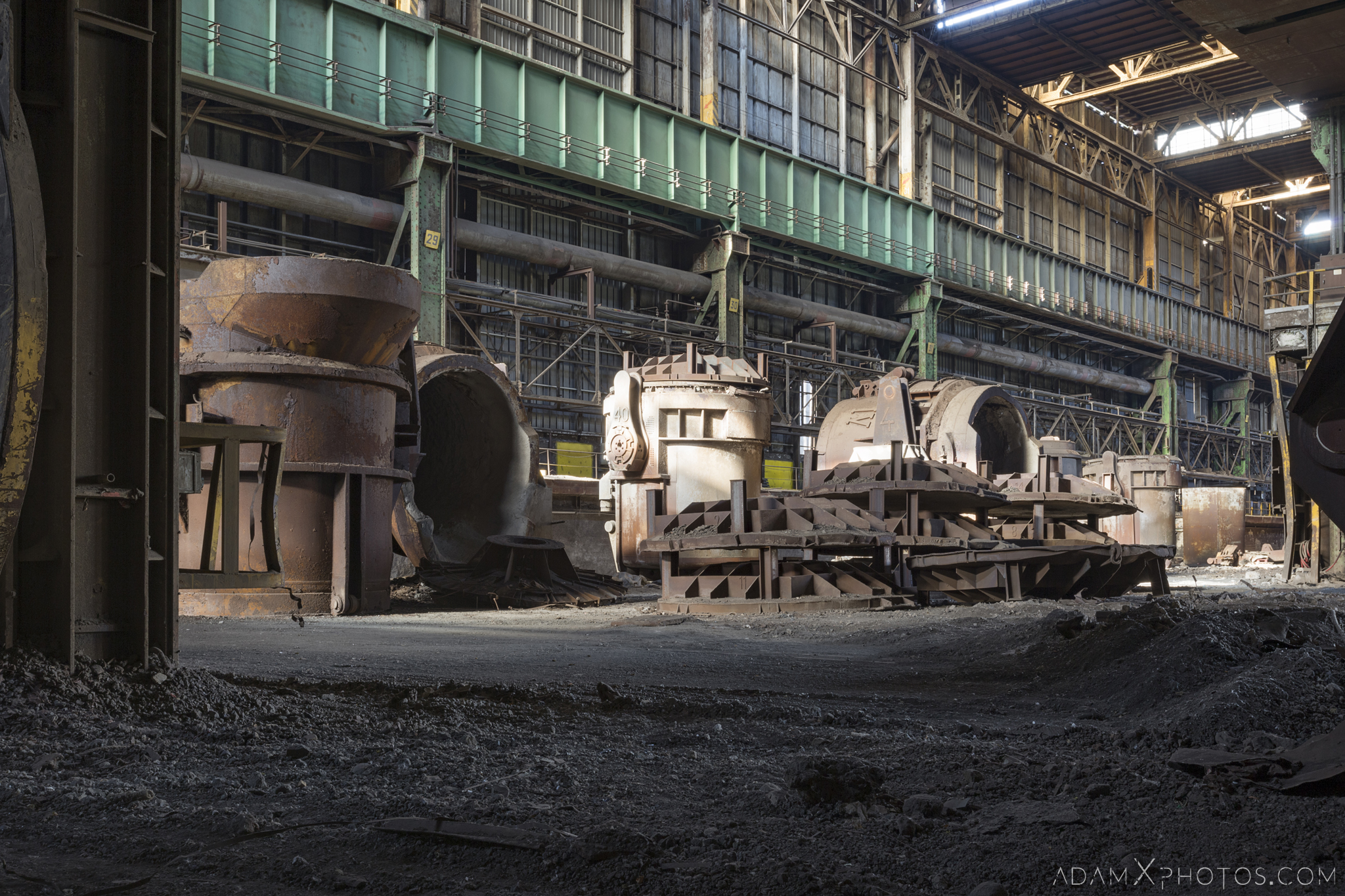 ladles HFX Florange Hayange ArcelorMittal blast furnaces steel works plant Industrial Industry Adam X Urbex Urban Exploration France Access 2017 Abandoned decay lost forgotten derelict location creepy haunting eerie